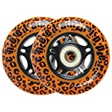 Cheetah Rippers Cheetah Wheels for Ripstik Wave Board Abec 9, 76mm, Orange