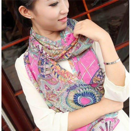S Cloth 2015 Fashion Women'S Girl Chiffon Print Silk Soft Scarf Shawl Scarves Wraps
