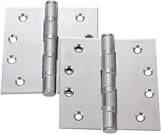 TPOHH Commercial Grade Ball Bearing Door Hinge with Brushed Nickel 2-Pack 3 X 3 Non-Removable Pin