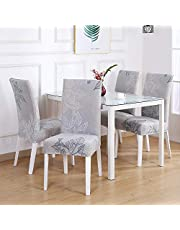 SAYOPIN Slipcover for Dining Room Chair Set of 4 Spandex Stretch Chair Covers for Kitchen Washable for Hotel Banquet & Ceremony, Dining Chair Seat Covers Suitable for Square Back
