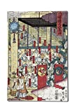 Gathering of Gods at the Great Shrine at Izumo Japanese Wood-Cut Print (12x18 Premium Acrylic Puzzle, 130 Pieces)