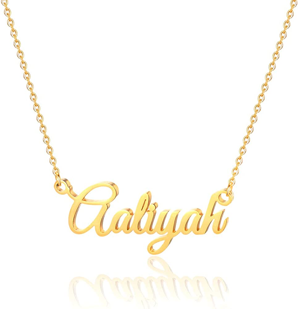 Gold personalized necklace Name necklace.Personalized gold necklace Gold name necklace gift for her Capital name necklace Name jewelry