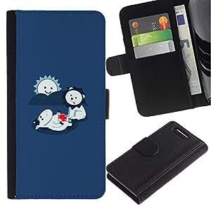 JackGot ( LOL divertente Leone sveglio Mangiare ) Sony Xperia Z3 Compact / Z3 Mini (Not Z3) la tarjeta de Crédito Slots PU Funda de cuero Monedero caso cubierta de piel