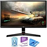 LG 24' Class Full HD IPS Gaming Monitor (23.8' Diagonal) + Cleaning Kit + HDMI-to-USB-C Thunderbolt 3 Adapter Cable + 2 Year Extended Warranty