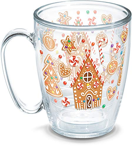(Tervis 1273241 Gingerbread Houses Insulated Tumbler with Wrap, 16oz Mug,)