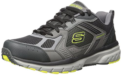 Skechers Sport Männer Geo Trek Sneaker Holzkohle / Limette