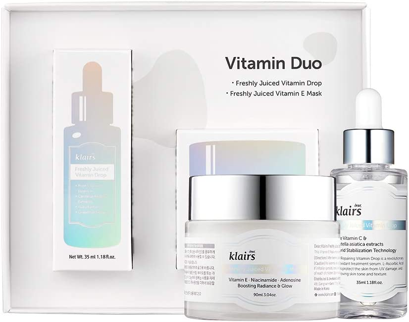 [Dear Klairs] Vitamin Duo Speical Limited Set, Holiday Gift Set, 2 Skin Care Products, Vitamin Drop, E mask