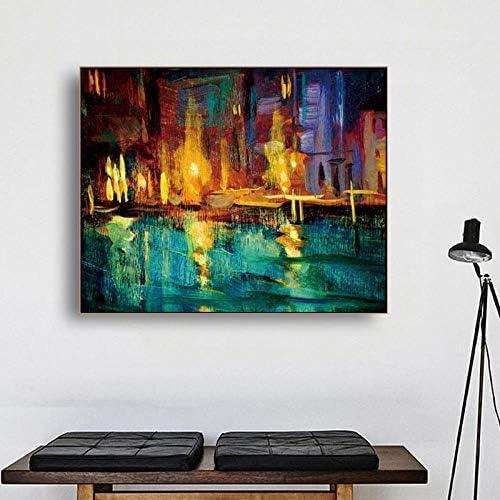 キャンバス書道絵画水彩抽象ポスターと版画クラシック、壁アートワーク写真リビングルーム家の装飾90×72センチなしフレーム