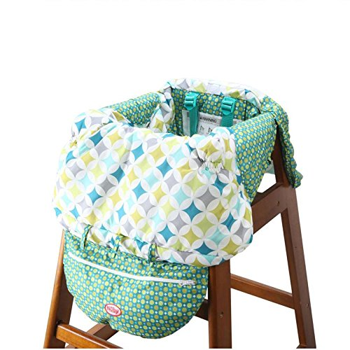 2 in 1 Shopping Cart and High Chair Cover for Baby and Toddlers - Folds into Pouch for Easy Carrying by HM Fulfillment (Image #4)
