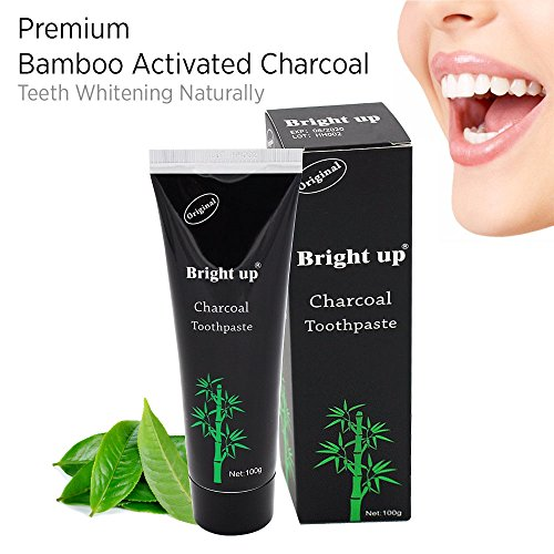 Bamboo Activated Charcoal Toothpaste, Highest quality ingredients, Whiten Teeth Naturally, Enamel-safe, Achieve professional-level teeth whitening (Mint Flavor) 100g