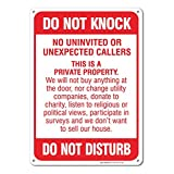 No Soliciting Sign - Do Not Knock - Do Not Disturb Sign - 10
