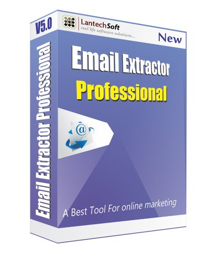 Lantech Soft Web Email Extractor Professional - 1 PC, 1 Year