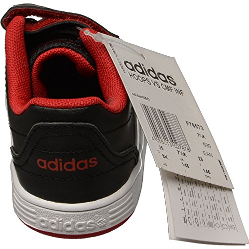 adidas Neo HOOPS VS CMF INF Chaussures Mode Sneakers Bebe Noir Rouge AdiFit