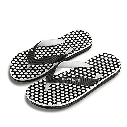 Easy Go Shopping Men's Thong Classic Flip Flops Beach Sandals Slipper,Flip Flop Sandals for Men Black