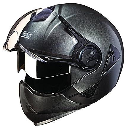 Studds Downtown Full Face Helmet (Gun Grey, XL)