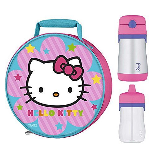 Thermos Hello Kitty Novelty Lunch Kit w/ 10oz & 11oz Drink Bottle