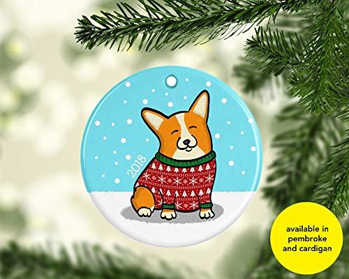 Corgi Ornament - Available in Pembroke and Cardigan - Pembroke Ornaments