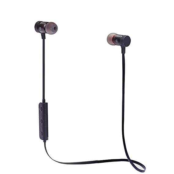 Bluetooth Headphones, Wireless Sports Headset with Microphone Magnetic and Sweatproof Earbuds Noise Cancelling and Stereo