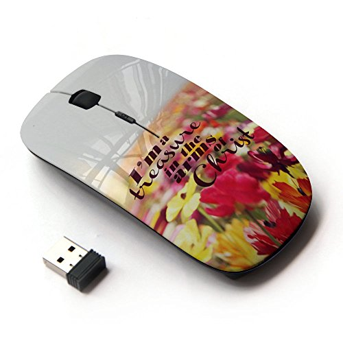 KOOLmouse [ Optical 2.4G Wireless Mouse ] [ Jesus Christ Flowers God Christian -