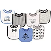 Hudson Baby Baby Cotton Drooler Bibs, 7 Pack, Gentleman, One Size