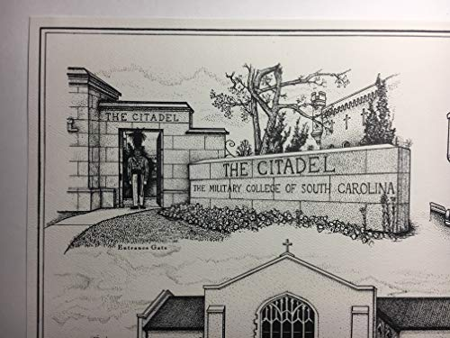 Citadel - hand-drawn pen and ink print by Campus Scenes (Image #4)