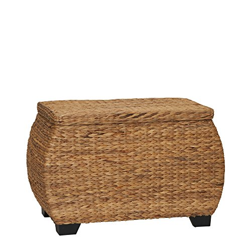 Household Essentials ML-4107 Natural Water Hyacinth Curved Lidded ()