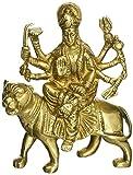 Hindu Goddess Durga Metal Brass Sculpture Art