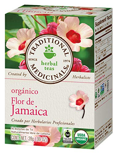 Traditional Medicinals Organic Hibiscus Herbal Tea, 16 Tea Bags (Pack of 1)