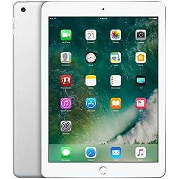 Apple iPad with WiFi + Cellular, 128GB, Silver (2017 Model)