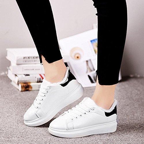 Chaud avec Des Coton en Chaussures Étudiants Augmenter Femmes D'Hiver Ajouter DXD Et Chaussures Noir Blanc Des Des Épais Chaussures Des Chaussures Pour les qwxZRSXRP