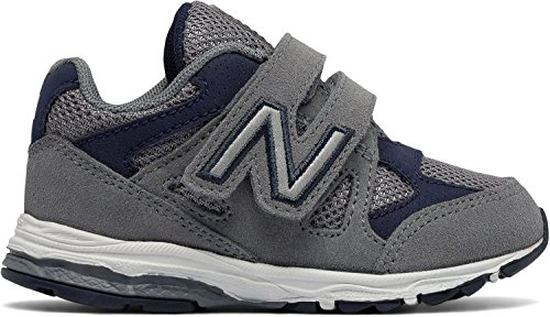 Pictures of New Balance Kid's KV888 Running Shoe KV888SNI Grey/Navy 4