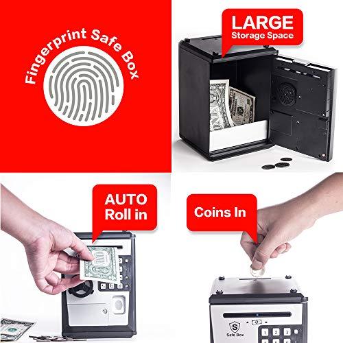 LIKE Toy Piggy Bank Safe Box Fingerprint ATM Bank ATM Machine Money Coin Savings Bank for Kids by LIKE (Image #2)