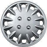"""OxGord WCKT-860-14-SL Wheel Cover/Hub Cap, Silver/Lacquer, 14"""""""