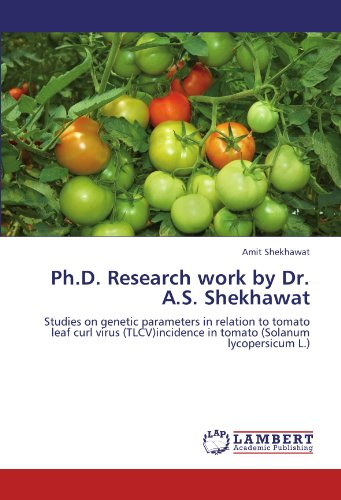 Ph.D. Research work by Dr. A.S. Shekhawat: Studies on genetic parameters in relation to tomato leaf curl virus (TLCV)incidence in tomato (Solanum lycopersicum L.)
