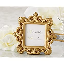 FavorWarehouse Royale Gold Baroque Place Card/Photo Holder -48 count