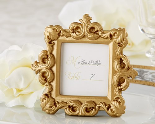 112 Royale Gold Baroque Place Card Photo Holders