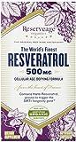 ReserveAge Resveratrol Vegetarian Capsules, 500 Mg, 60-Count (Pack of 3)