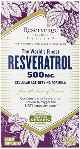 ReserveAge Resveratrol Vegetarian Capsules, 500 Mg, 60-Count (Pack of 3) by ReserveAge