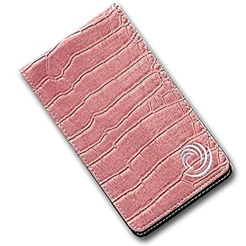 ticktockgolf - lujo, efecto de cuero soporte para tarjeta de ...
