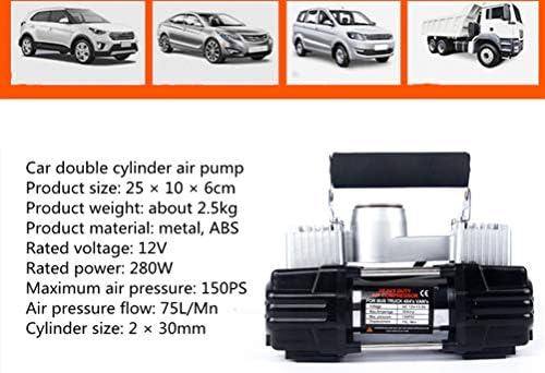 WYFDM Compresor de Aire Doble del Coche del Cilindro, inflador ...