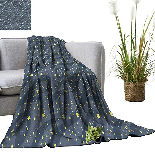anket m y Bright Stars in The Night Sky be use for Wallpaper Textile Lightweight Blankets for Couch Bed Sofa 70