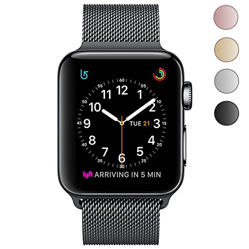 OROBAY Apple Watch Band 38mm 42mm, Stainless Steel Milanese Mesh Loop Magnetic Closure Clasp Apple Watch Wristband Strap for Apple iWatch Series 3, Series 2, Series 1 Sports&Edition …