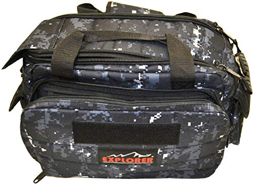 Explorer Tactical 12 Pistol Padded Gun and Gear Bag Navy Digital (Solid Sack Stuff)