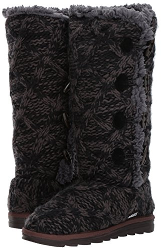 Moda para Mujer Mujer para Summer R698 Negro w LUKS MUK de Bota Deep fvRXwzzA