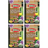 Hoffman 10404 Organic Cactus and Succulent Soil Mix, 4 Quarts, Brown/A Pack of 4