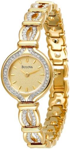 44e2c1218 Bulova Women's 98T99 Swarovski Crystal Gold-Tone Watch - Import It ...