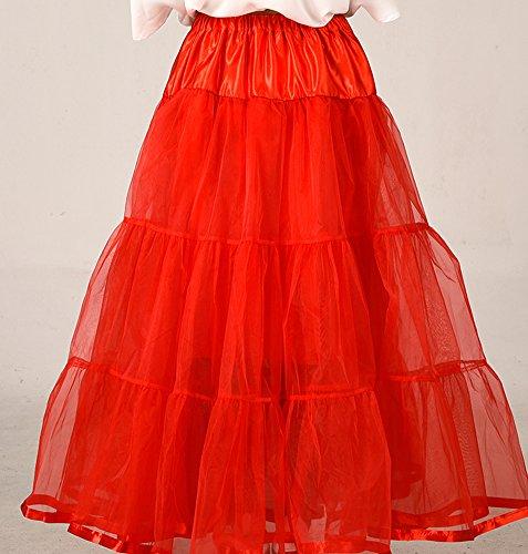 Las mujeres faldas tutú enaguas miriñaque enaguas Rosso