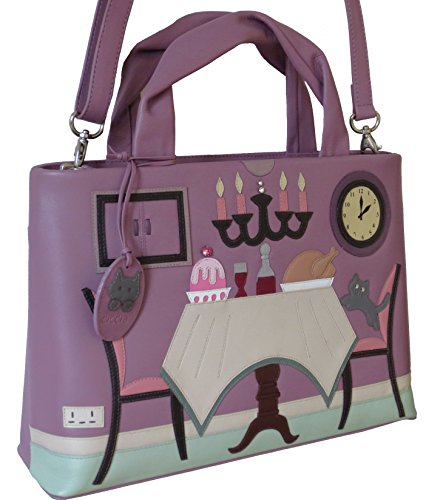 Shoulder Time Womens Plum Dinner Bag Leather Ciccia fvqFA1