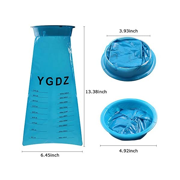 YGDZ Top Quality 15 Pack Blue Emesis Bags 1000ml Blue Waste Disposal Bags Shipping By FBA