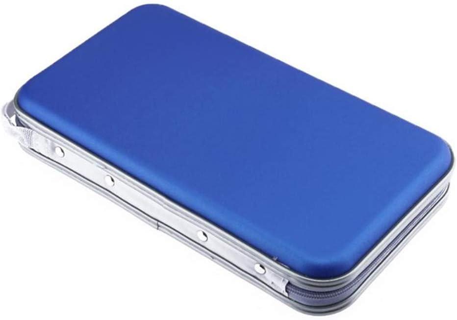 FatColo CD Storage Holder Bag of Plastic 80 Disc CD DVD Holder Storage Cover Case Organizer Wallet Bag Album (Blue)